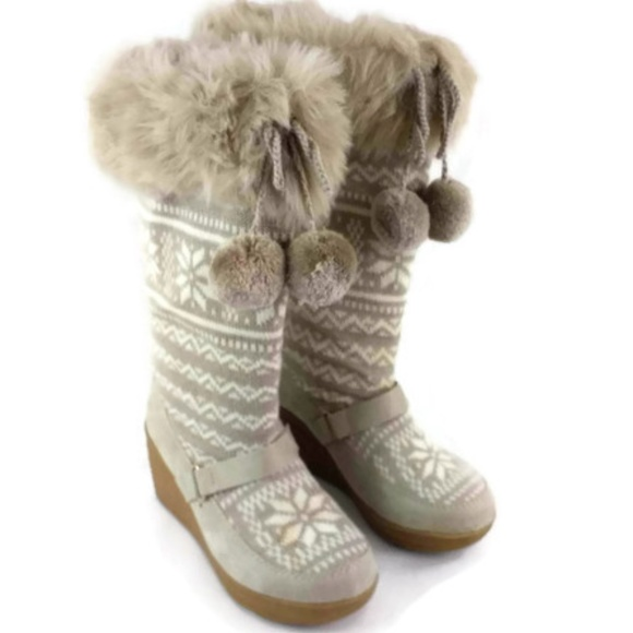 official photos 9a442 ac1b2 Red Camel Summit Natural Fur Fabric Winter Boots